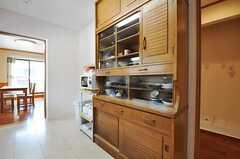 食器棚の様子。(2011-03-08,共用部,KITCHEN,1F)