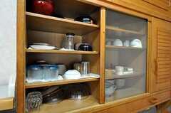 食器の様子。(2011-03-08,共用部,KITCHEN,1F)