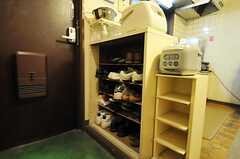 靴箱の様子。(2012-11-27,専有部,ROOM,3F)