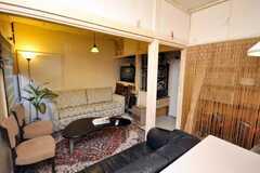 シェアハウスのラウンジの様子5。(2009-01-13,共用部,LIVINGROOM,1F)