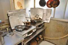 ガスコンロの様子。(2009-01-13,共用部,KITCHEN,1F)