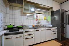 キッチンの様子。(2013-04-15,共用部,KITCHEN,1F)