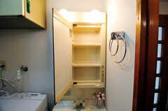 ミラーキャビネットの様子。歯ブラシや洗面用具を置くことが出来ます。(2012-05-28,共用部,OTHER,2F)