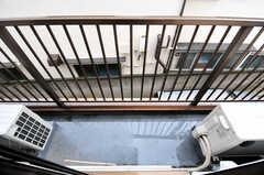 ベランダの様子。(204号室)(2012-05-28,専有部,ROOM,2F)