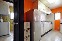 冷蔵庫の様子。(2011-03-31,共用部,KITCHEN,3F)