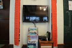 共用TVの様子。(2013-05-21,共用部,TV,1F)