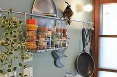 調味料は引っ掛けて収納するタイプ。(2013-05-21,共用部,KITCHEN,1F)