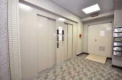 マンションのエレベーターの様子。(2009-06-25,共用部,OTHER,1F)