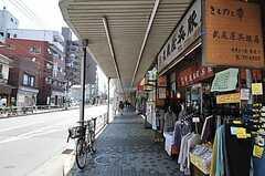 シェアハウス近くの商店街の様子。(2011-05-19,共用部,ENVIRONMENT,1F)