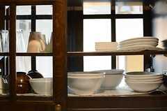 食器棚の様子。(2013-03-28,共用部,KITCHEN,7F)