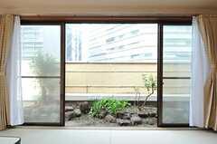 窓の外は専用の庭です。(701号室)(2013-03-28,専有部,ROOM,7F)