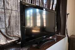 共用TVの様子。(2011-09-12,共用部,TV,1F)