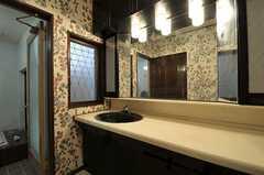 洗面台の様子。奥にはバスルームがあります。(2011-09-12,共用部,OTHER,1F)