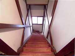 階段の様子。(2Fから)(2005-12-03,共用部,OTHER,2F)