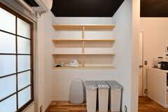 収納棚の様子。専有部ごとの収納スペースも用意される予定です。(2019-12-24,共用部,LIVINGROOM,1F)