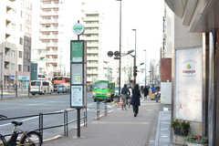 最寄りのバス停の様子。(2019-12-24,共用部,ENVIRONMENT,1F)