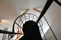 上から見た螺旋階段。(2017-02-20,共用部,OTHER,3F)