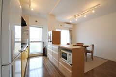 シェアハウスのキッチンの様子。(ピスタチオ)(2011-03-09,共用部,KITCHEN,3F)