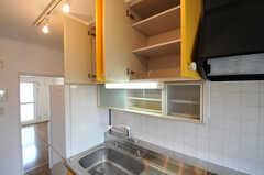 部屋ごとに分けられた食材などを置くスペース。(ピスタチオ)(2011-03-09,共用部,KITCHEN,3F)
