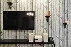 共用TVの様子。(2013-03-15,共用部,TV,3F)