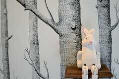 ゆるキャラ・・・というようにはちょっと違う、目つきが鋭いウサギ。(2013-03-15,共用部,LIVINGROOM,3F)