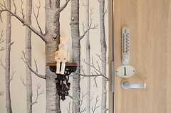 専有部の鍵はナンバー式です。(301号室)(2013-03-15,専有部,ROOM,3F)