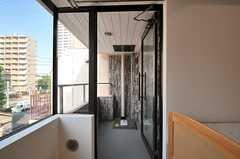 ベランダの様子。(305号室)(2014-07-31,専有部,ROOM,3F)