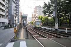 都電荒川線・面影橋駅の様子。(2014-07-31,共用部,ENVIRONMENT,1F)