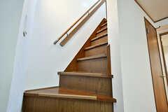 階段の様子。玄関脇です。(2017-03-18,共用部,OTHER,1F)