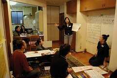 ワークショップ形式で話し合い(事業者様コメント)。 ※事業者様提供素材(2012-02-24,専有部,ROOM,2F)