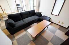 シェアハウスのリビングの様子3。(2010-09-15,共用部,LIVINGROOM,1F)