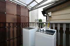 洗濯機の様子。(2018-05-09,共用部,LAUNDRY,3F)