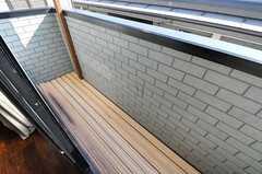 ベランダの様子。(302号室)(2012-10-16,専有部,ROOM,3F)