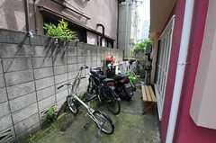 自転車置場の様子。  (2011-06-24,共用部,GARAGE,2F)