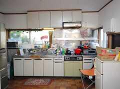 シェアハウスのキッチンの様子。(2008-03-03,共用部,KITCHEN,1F)