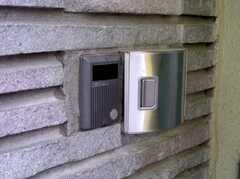 正面入口の様子。カード式のオートロック。(2005-06-03,共用部,OTHER,)