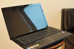共用PCの様子。(2013-12-19,共用部,PC,1F)
