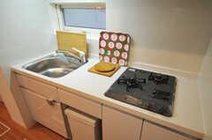 キッチン下にゴミ箱が収納できるようになっています。(2013-12-19,共用部,KITCHEN,1F)