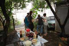 ガーデンパーティーの様子。(2008-08-30,共用部,PARTY,1F)