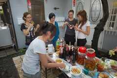 ガーデンパーティーの様子2。(2008-08-30,共用部,PARTY,1F)