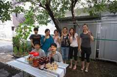 ガーデンパーティーの様子3。(2008-08-30,共用部,PARTY,1F)