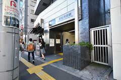 都営大江戸線・若松河田駅の様子。(2016-07-29,共用部,ENVIRONMENT,1F)