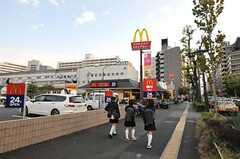 東京メトロ副都心線・西早稲田駅からシェアハウスへ向かう道の様子。(2010-11-18,共用部,ENVIRONMENT,1F)