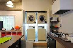 コイン式の洗濯機、乾燥機の様子。(2011-11-01,共用部,LAUNDRY,2F)