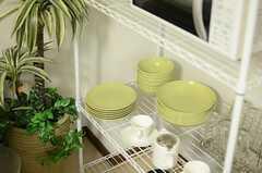食器は淡いグリーン色。(2012-12-24,共用部,OTHER,2F)