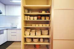 食器棚の様子。(2010-09-14,共用部,OTHER,1F)