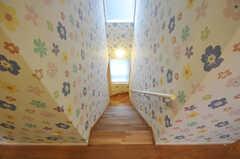 階段の様子。窓から光が入ります。(2010-09-14,共用部,OTHER,2F)