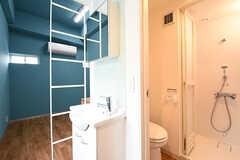 専有部の様子。2F全室と301号室はトイレ・シャワールームが設置されています。(301号室)(2016-06-07,専有部,ROOM,3F)