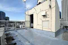 屋上には物干し場があります。(2011-06-21,共用部,OTHER,6F)