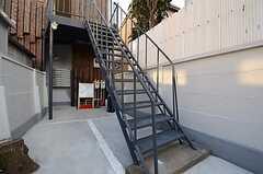 外階段の様子。(2016-01-05,共用部,OTHER,1F)